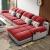 佐爾適ドレープロソファの組み合わせは簡単です。現代客間の角に家具をセットした豪華版の2人が掛けます。+gufei+1人が掛けます。