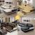 純森本革ソファ客間ソファセット欧風ソファ現代シンプルなサイズの部屋型ソファ豪華ソファセット(3.92 m)