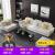 ルイイスソファ布艺ラテックス现代简约ウウォーケース小戸タイプ3人挂けリビングセットセット北欧风ソファラテックスアップグレードモデル(3 CMラテックス)4人+足