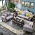 欧洛曼帝欧式ソファーの無垢材ソファァ·フランス式の古典ソファーのリビングセットの家具の小型豪華なアメリカンソファの青い皮のソファーの1番の色