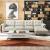 A家北欧風の皮のソファーヘッド層の牛皮の現代簡単なリビング家具セットソファ3人掛け台+中位+左gufei位