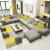 纯森ドレープレソファ组合リビングサイズの家型ソファウォーカー家具の大きな家型六点セット+茶几+テレビキャビネット(长さ3.6メートル)