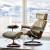 STRESSLESS思特莱斯快適椅子北欧風1人掛け椅子空の真皮快適椅子北欧風家装風灰白-三叉星台