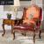 二十度のソファの无垢材ソファァァァ·ビング家具欧式ドレ·プロ·ファ·セ·プの大きさの家型アメレオン本革ソファ【实木2人挂け位】
